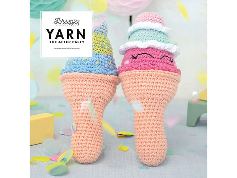 YARN The After Party 56 - Crochet Kit and Pattern Ice Cream Rattle