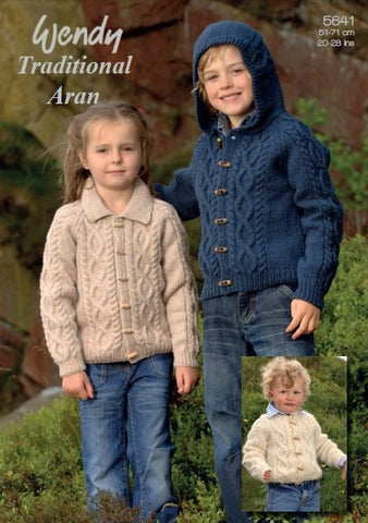Children's Jackets and Hat in Wendy Traditional Aran (5641) Digital Version