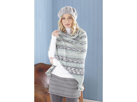 Ladies Ponchos, Snood & Shawl Knitting Kit and Pattern in King Cole Yarn (5652)