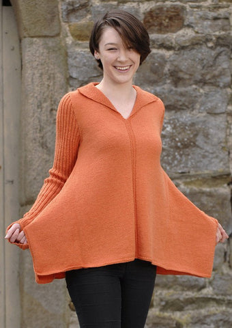Hankerchief Hem Sweater in Wendy Merino 4 ply (5807) - Digital Version