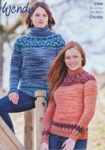 Fairisle Sweater in Wendy Evolve Chunky (5904)