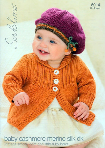 Smock Coat & Beret in Sublime Baby Cashmere Merino Silk DK (6014)