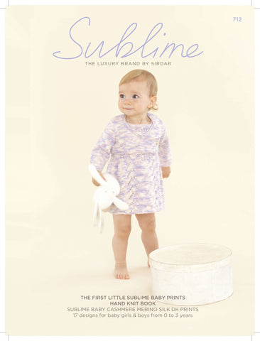 The First Little Sublime Baby Prints Hand Knit Book (712SUB)