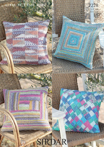 Cushion Covers in Sirdar Crofter DK (7228)