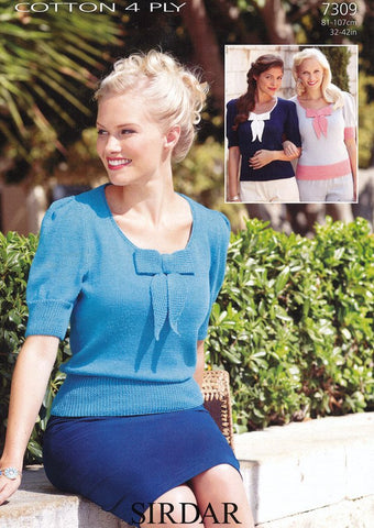 Sweaters in Sirdar Cotton 4 Ply (7309) - Digital Version
