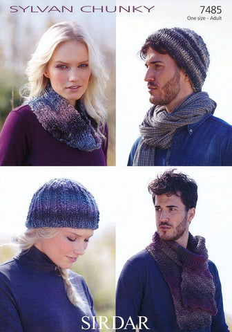 Cap, Hat, Scarf and Snood in Sirdar Sylvan Chunky (7485)