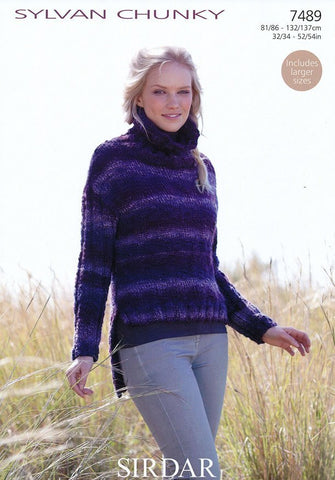 Womens Sweater in Sirdar Sylvan Chunky (7489)