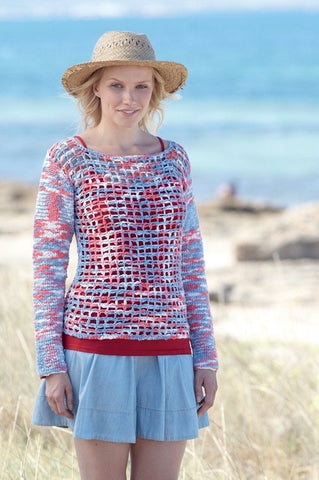 Crocheted Womens Tops Crochet Kit and Pattern in Sirdar Yarn (7761)