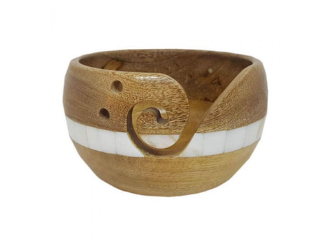 Scheepjes Yarn Bowl - Mango Wood & Pearl