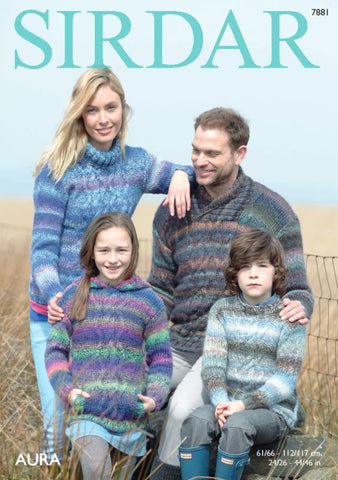Sweaters in Sirdar Aura (7881)
