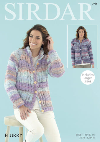Womens Cardigan in Sirdar Flurry Chunky (7956) - Digital Version