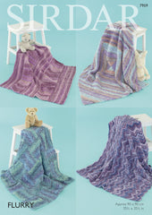 Baby Shawls & Blankets in Sirdar Flurry Chunky (7959) - Digital Version