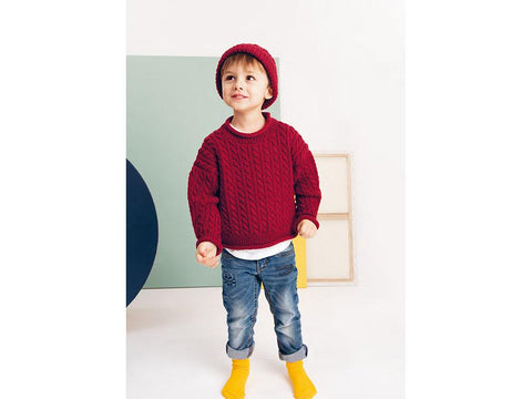 Childrens Sweater and Hat in Rico Design Essentials Merino DK (800)