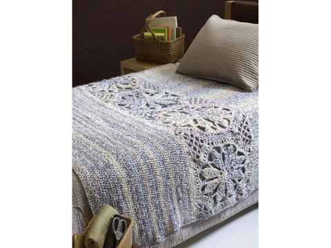 Magnolia Afghan Crochet Kit and Pattern in Lion Brand Yarn (80266AD)