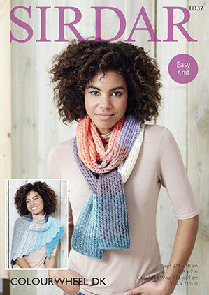 Castellated Wrap and Scarf in Sirdar Colourwheel (8032)