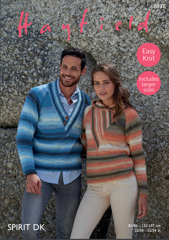 His & Hers Sweaters in Hayfield Spirit DK (8037)