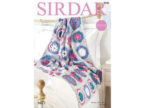 Crocheted Throw Crochet Kit and Pattern in Sirdar Yarn (8048)