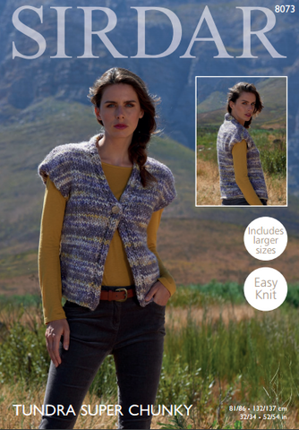 Womans Waistcoat in Sirdar Tundra Super Chunky (8073)