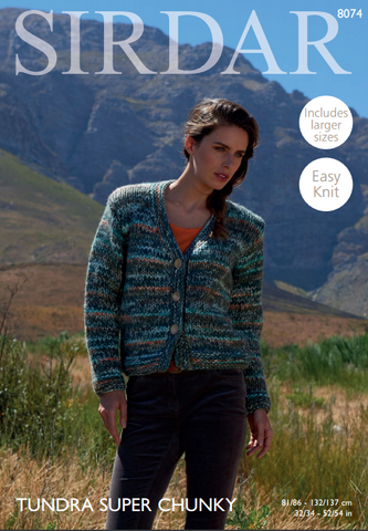 Woman's Cardigan in Sirdar Tundra Super Chunky (8074)