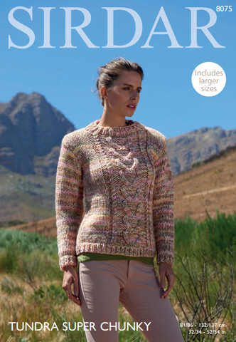 Woman's Sweater in Sirdar Tundra Super Chunky (8075)