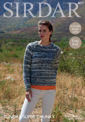 Woman's Sweater in Sirdar Tundra Super Chunky (8077)