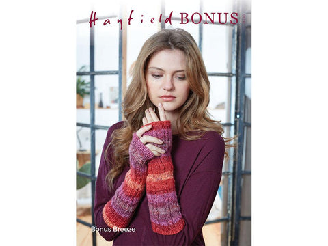 Wrist Warmers in Hayfield Bonus Breeze DK (8216)
