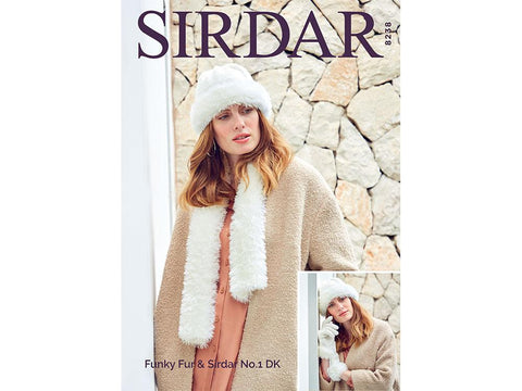 Gloves, Hat & Scarf in Sirdar No.1 & Funky Fur (8238)