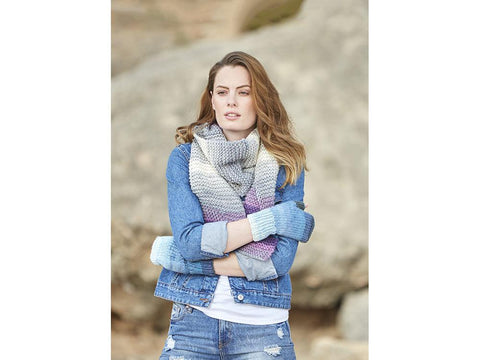 Woman's Wrist Warmers and Scarf in Hayfield Spirit Chunky (8249S)