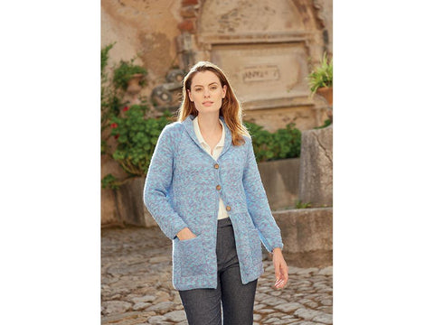 Woman's Long Line Coat in Hayfield Journey DK (8266S)