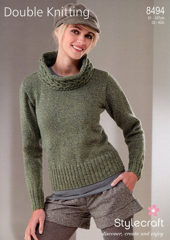 acb22d8f35132 Sweater in Stylecraft Extra Special DK (8494)