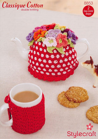 Tea and Mug Cosy in Stylecraft Classique Cotton DK (8853)