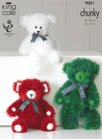 Tinsel Chunky Teddies in King Cole Tinsel Chunky (9021)