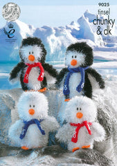 Tinsel Chunky Penguins in King Cole Tinsel Chunky (9025)