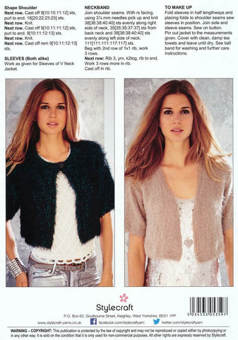 Ladies Cropped Jackets in Eskimo Kisses (9049)