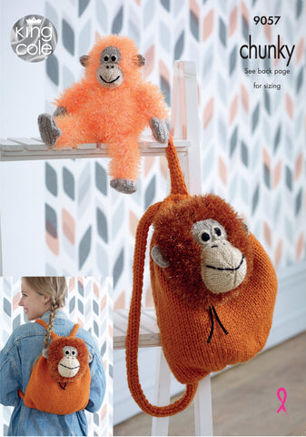 Tinsel Orangutan Backpack and Toy (9057)
