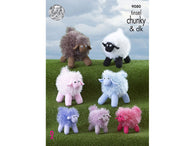 Tinsel Sheep in King Cole Tinsel Chunky & Dolly Mix DK (9080)