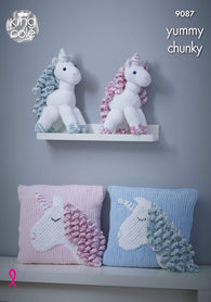 Unicorn & Cushion in King Cole Yummy (9087K)