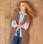 Jacket and Waistcoat in Stylecraft Alpaca Tweed Chunky (9321)