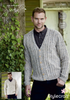 Sweater and Cardigan in Special Aran with Wool (9341)