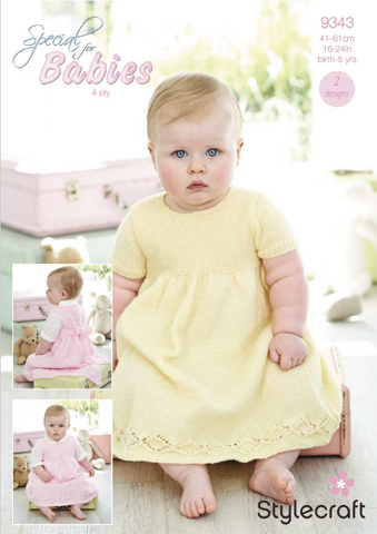 Dresses in Special for Babies 4 Ply (9343)