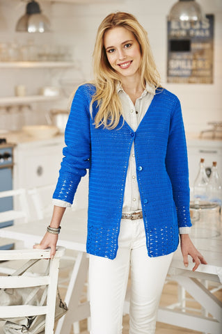 Cardigan and Vest in Stylecraft Classique Cotton 4 ply - (9372)