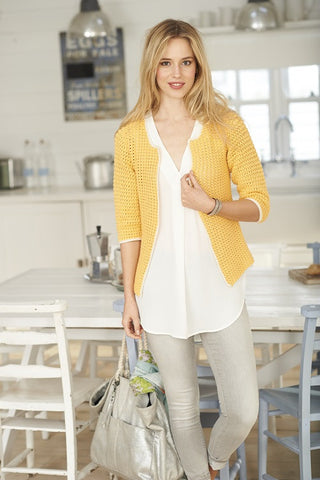 Tee and Cardigan in Stylecraft Classique Cotton 4 ply - (9373)