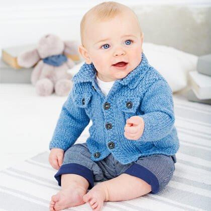 Cardigan and Waistcoat in Wondersoft DK (9387)