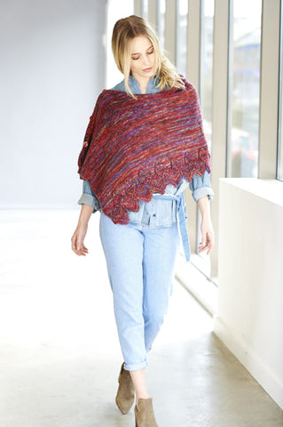 Top and Poncho in Batik Elements DK (9407)