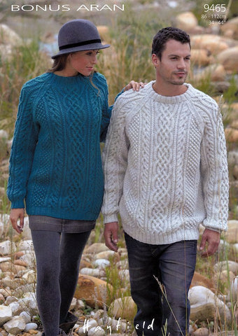 Sweaters in Hayfield Bonus Aran (9465)