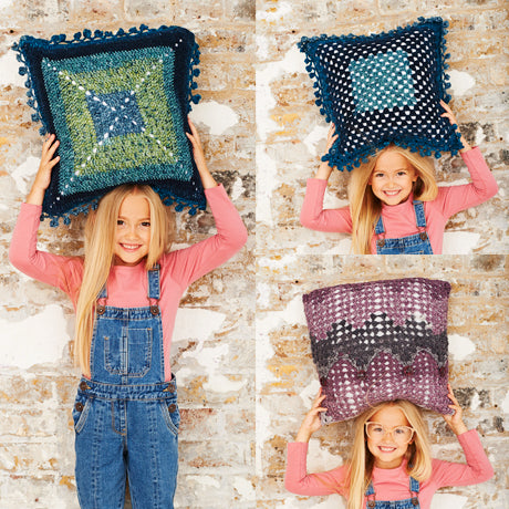 Cushion Patterns Crochet Kit and Pattern in Stylecraft Yarn (9487)