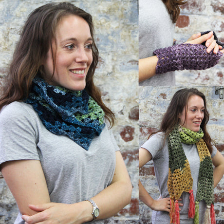 Scarf, Cowl & Mitts Crochet Kit and Pattern in Stylecraft Yarn (9489)