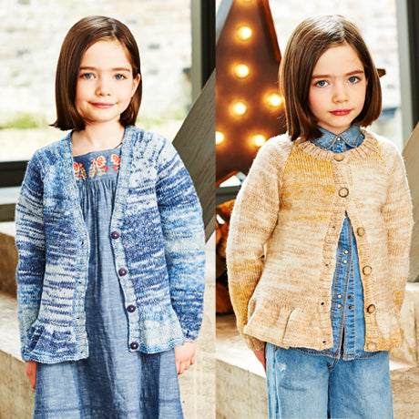 Girls Cardigans in Stylecraft Life Changes DK (9545)