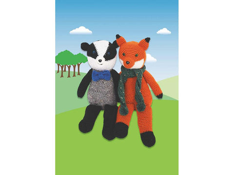 Fox & Badger in Stylecraft Life DK (9665)