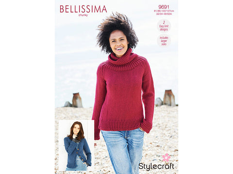 Sweater and Cardigan in Stylecraft Bellissima Chunky (9691)